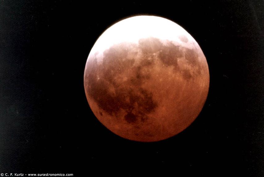 Viene el eclipse de la ' Luna roja '